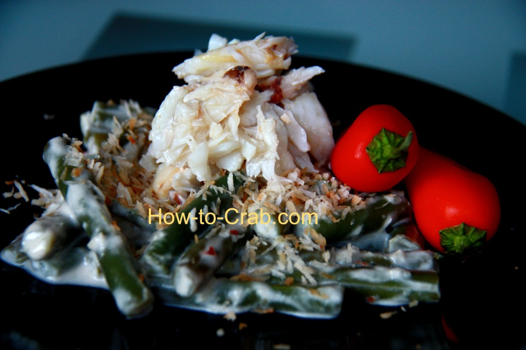 Fresh Dungeness crab meat with cocnut