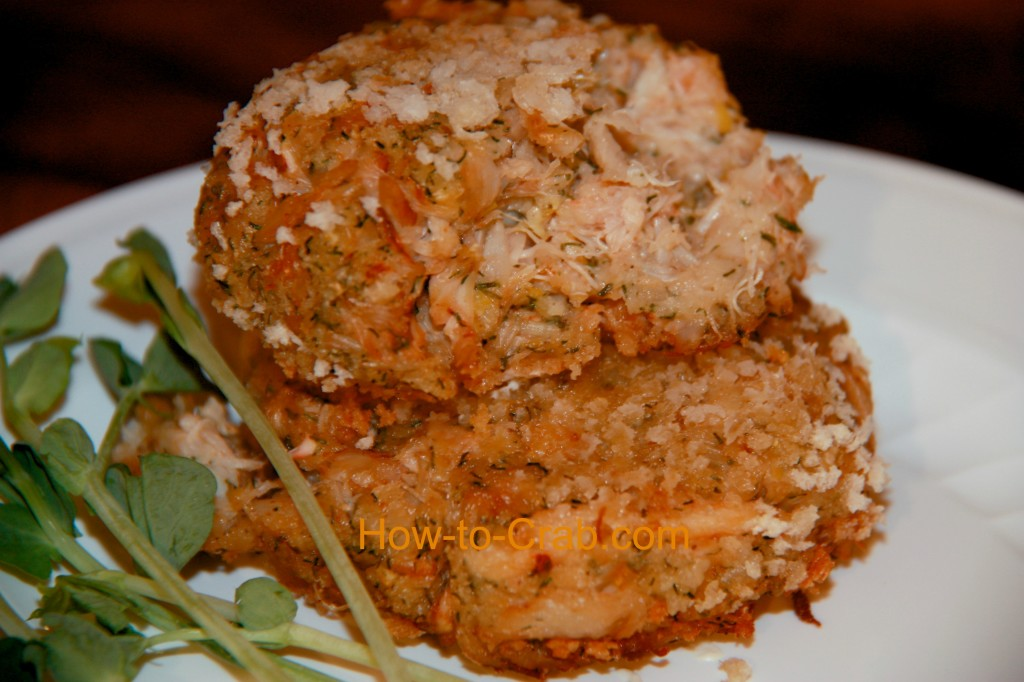 Crispy on the outside, moist on the inside crab cakes